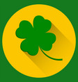 Four leaf clover st patricks day green icon