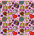 girl fashion seamless pattern vector image