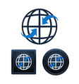 global communication icons design isolated vector image vector image