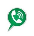 Green phone bubble icon vector image vector image