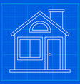 home sweet home blueprint icon vector image vector image