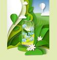 ice tea ads template herbal vector image