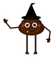 isolated poop emoji vector image vector image