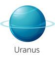 isolated uranus on white background vector image