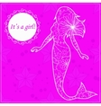 Its a girl card with mermaid vector image