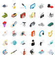 job icons set isometric style vector image vector image