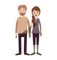 light color shading caricature full body couple vector image