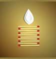 lit candle made from safety matches with paper vector image