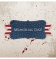 Memorial Day greeting Label and Ribbon vector image vector image