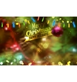Merry Christmas and HappyHoliday Background vector image vector image