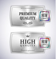 mosaic metal label shopping vector image vector image