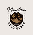 mountain adventure emblem logo template vector image vector image