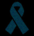 mourning ribbon collage icon of halftone spheres vector image vector image