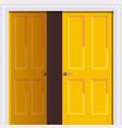 opened yellow door freedom opening concept vector image