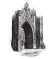 ornate gothic door gothic style church vintage vector image vector image