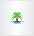 palm icon tree symbol logo vector image vector image