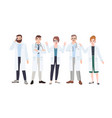 panel of doctors or council of physicians vector image vector image