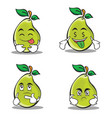 pear character cartoon set collection vector image vector image