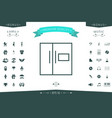 refrigerator linear icon vector image