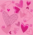 Roses and Pink Hearts vector image vector image