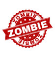 scratched textured zombie stamp seal vector image
