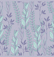 seamless pattern with plants on a purple vector image vector image