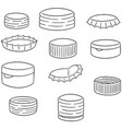 set of bottle cap vector image vector image
