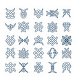 set of design geometric fancy abstract characters vector image vector image
