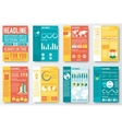 Set of flyer and brochure of flat infographics and