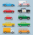 set of various city urban traffic vehicles icons vector image vector image