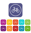 sign bike icons set vector image vector image
