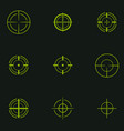sniper sight symbol crosshair target set of icons vector image vector image