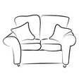 sofa sketch on white background vector image vector image