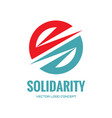 solidarity - logo template concept vector image