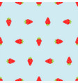 strawberry pixel art pattern seamless berry vector image vector image