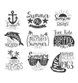 Summer Vacation Vintage Stamp Collection vector image