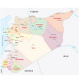 syria administrative divisions map vector image