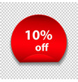 tag discount sticker isolated on transparent vector image vector image