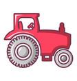 tractor icon cartoon style vector image vector image