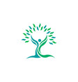 Tree nature leaf health people logo symbol