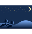 winter night vector image vector image
