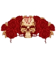 human skull and rose vector image