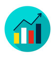 growth statistics circle icon vector image