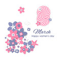8 march international women s day greeting card vector image vector image