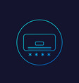 air conditioner icon line vector image