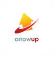 arrow up logo vector image vector image