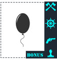 balloon icon flat vector image
