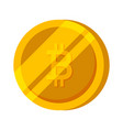bitcoin gold coin finance money vector image vector image