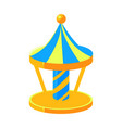 blue and yello merry-go-round fairy tale candy vector image vector image