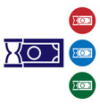 blue fast payments icon on white background fast vector image vector image